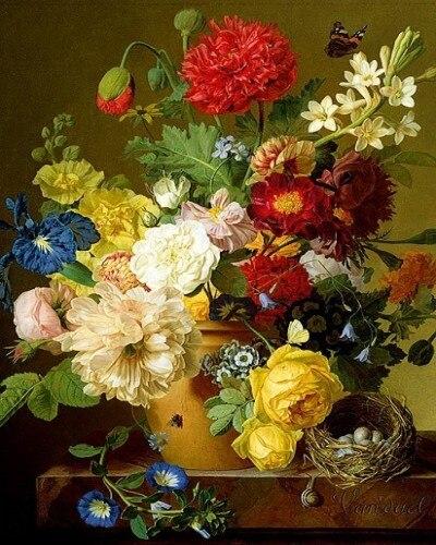 Натюрморт цветок большая картина спальня вышивка рукоделие 14CT без  надписей искусства вышивки крестом наборы DMC DIY Качество Декор ручной  работы купить на ... bd8244bb9d442