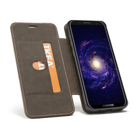 2018 Functional Leather Flip Wallet Case For Samsung Galaxy S8 360 Degree Rotating Finger Ring Stand