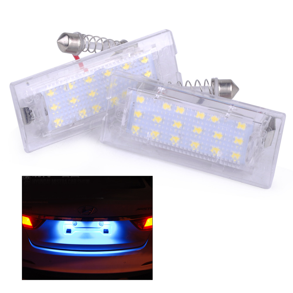 beler Pair Error Free LED License Plate Light Lamps for BMW X5 E53 X3 E83 2004 2005 2006 2007 2008 2009 2010 2011 2012 2013-2015 aftermarket free shipping motorcycle parts eliminator tidy tail for 2006 2007 2008 fz6 fazer 2007 2008b lack