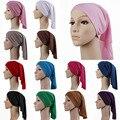 FreeShipping Elástico Turbante bufanda musulmán Hijab Islámico de Oración Musulmán Sombreros Y Gorras Mujeres Moda bufanda musulmán de las mujeres