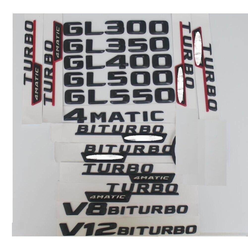 Matte Black Rear Trunk 3D Letters Emblem Emblems Badge for Mercedes Benz CL65