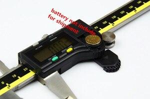 Image 4 - 150mm 200mm 300mm origem modo digital pinça de aço inoxidável eletrônico vernier caliper schieber caliper micrômetro + caixa
