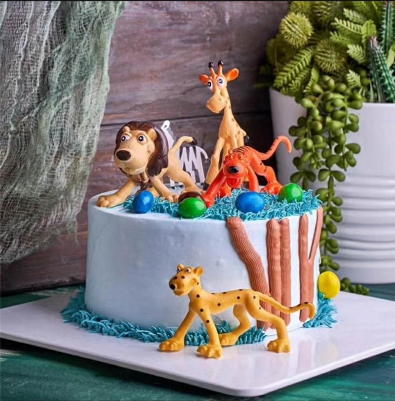 Swell Animal Birthday T Topper Lion Tiger Zebra Elephant Farm Animal Funny Birthday Cards Online Alyptdamsfinfo