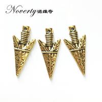New 10pcs 36MM Retro Gold Zinc Alloy Arrow Head Triangle Charms Pendants for DIY Necklace Jewelry Bracelet Accessories