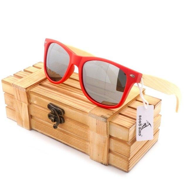 b914b484cf1 BOBO BIRD Women s Polarized Bamboo Sunglasses Wood Holder Sun Glasses Beach  Fashion Coated Sunglasses with Retail