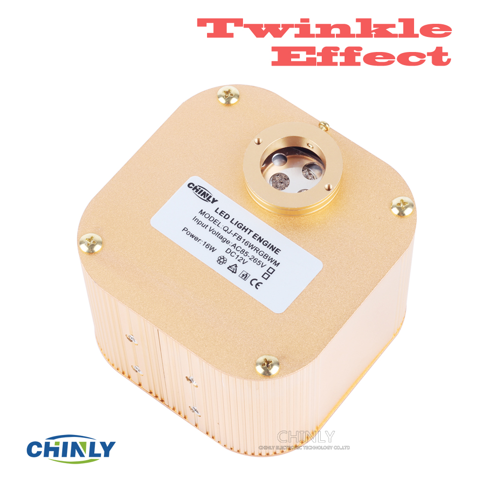 CREE Chip 16W RGBW LED Twinkle Effect Fiber Optic Engine Driver med - Kommersiell belysning - Foto 2