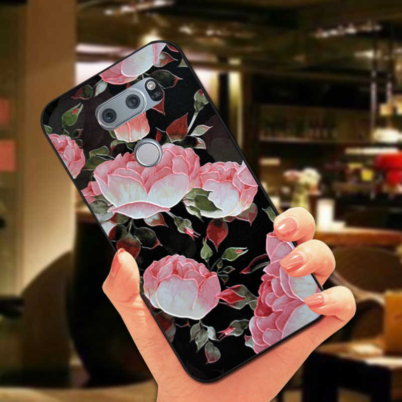 Bonito Floral patrón caso para LG Optimus G3 G4 G4C G5 G6 flor suave contraportada para LG Magna V10 V20 V30