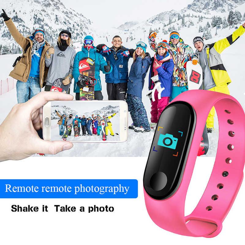 LIGE 2019 New Smart Sport Watch Women heart rate Blood pressure monitor Smart bracelet fitness tracker Pedometer PK M3 band+Box