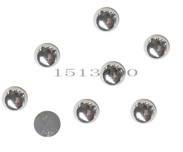 1000pcs 5mm Silver Craft Abs Half Round Flatback Pearls Imitation