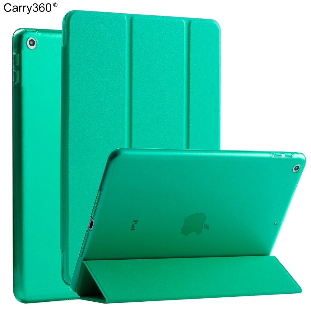 Carry360 Case for new  iPad 9.7 inch 2017, Rose Gold Color PU Leather+Ultra Slim Light Weight PC Back Cover for iPad 2017 back shell for new ipad 9 7 2017 genuine leather cover case for new ipad 9 7 inch a1822 a1823 ultra thin slim case protector