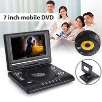 Portable 7inch HD DVD Player Swivel Screen TV Player Support Game Radio U Disk