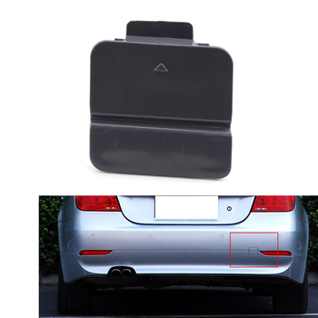 1X Rear Bumper Tow Hook Cover Cap For BMW E60 E61 04-07 520i 520d 523i 525i 525d 525xi 530i 530d 530xi 540i 545i 550i image