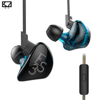 KZ ES3 1DD 1BA In Ear Earphone Balanced Armature Dynamic Subwoofer Stereo Headset Noise Cancelling HIFI