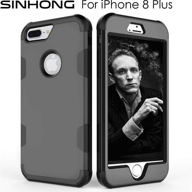 b53c130ac 360 Full Protect Front Back Case For Apple iPhone 8 Plus 8Plus Cover Hard  Plastic Soft Silicone Rubber Combo Shockproof Armor