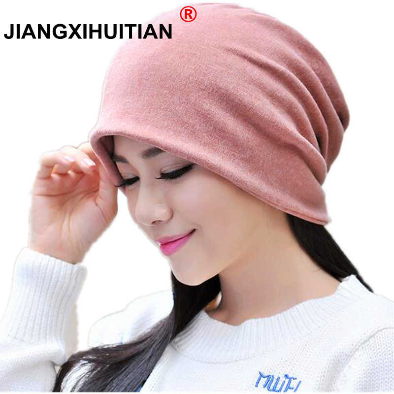 Autumn Winter Hats For Men Women Balaclava Mens   Skullies   And   Beanies   Turban Hat Female Stocking Hat Male Mask Cap Bonnet