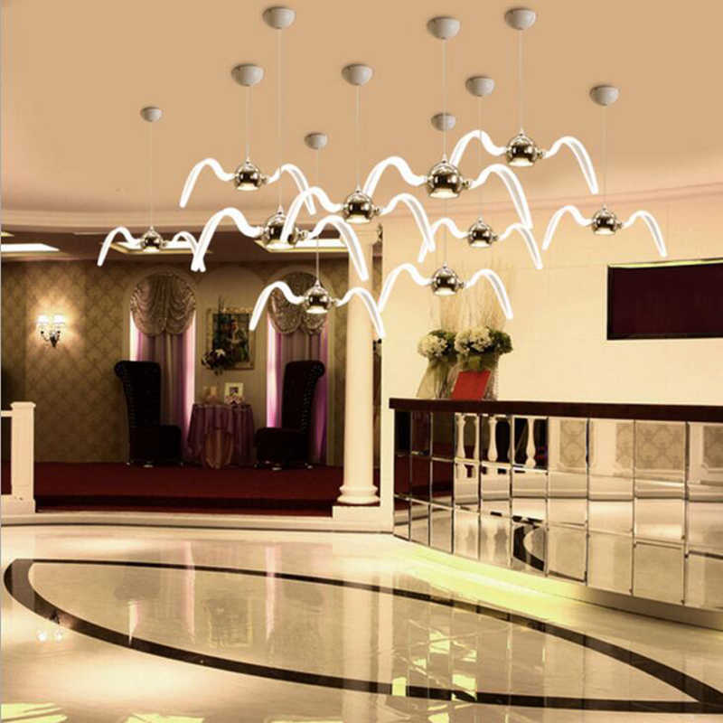 Led Chandeliers Personality Seagull