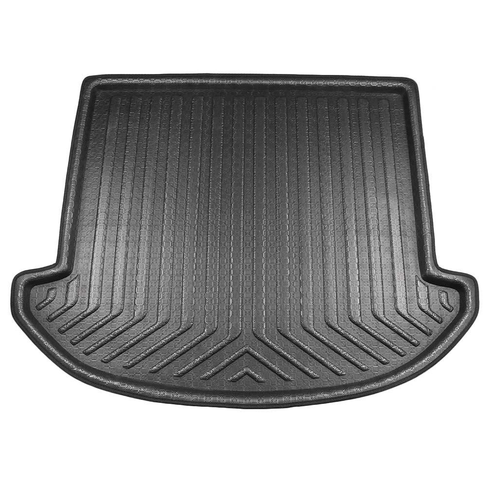 Для Hyundai Santa Fe 7 Стульчики Детские задний багажник Коврики для багажника загрузки Коврики туннеле Ковры грязи Защитная крышка 2013-2018 авто Инти...