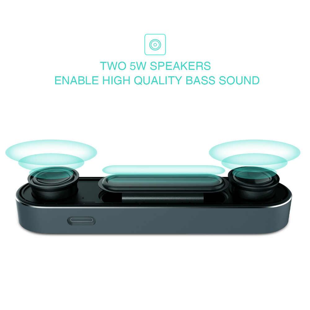 Havit 2000 MAh 10W Bluetooth Speaker Super Bass Stereo Speaker Nirkabel AUX Portable Kotak Suara untuk iPhone Smartphone Tablet m20