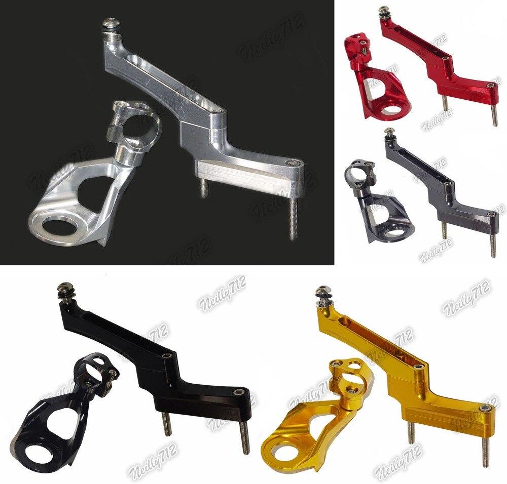 CNC Aluminium Steering Stabilizer Damper Mounting Bracket For Suzuki Hayabusa GSXR1300 2008 2009 2010 2011 2012