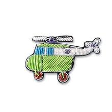 bd24818f2 Bordado de seda da índia pino no remendo helicóptero emblemas broche para  roupas apliques de roupa manchas parágrafo vestuario p.