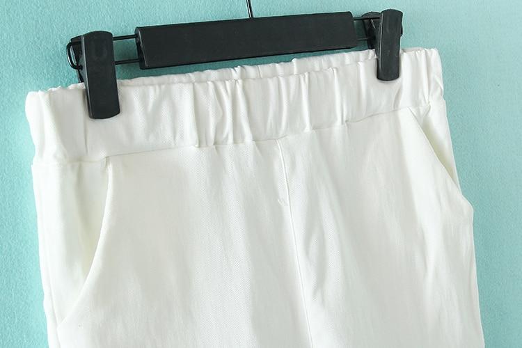 Pantallona me lapsa elastike Gratë krejt të reja Rastesishme Plus - Veshje për femra - Foto 5
