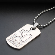 stainless steel digital 50 cent necklace double-layer Chinese number detachable English alphabet initials dollar Sign
