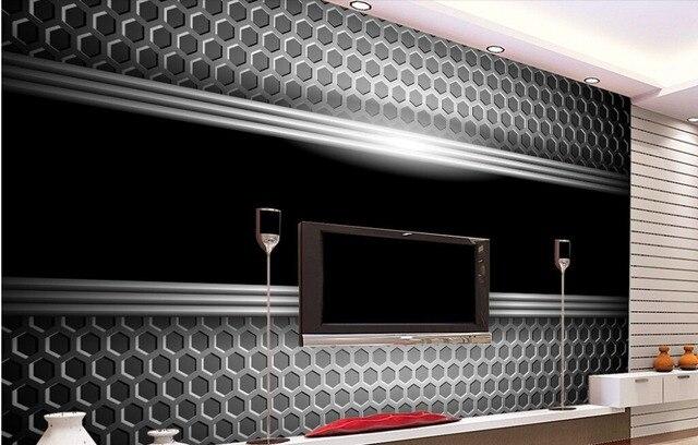 Us 30 0 Custom Modern Wallpaper Metallic Feel 3d Stereoscopic Wallpaper For The Living Room Bedroom Tv Backdrop Waterproof Wallpaper In Wallpapers