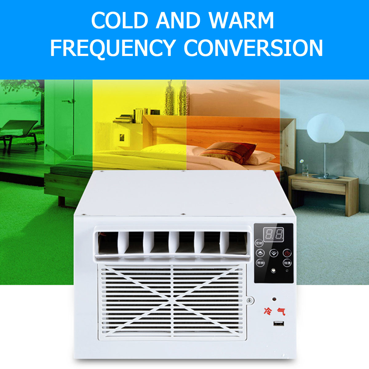 Mini Portable 1100W Air Conditioner Outdoor Free Installation USB Fast Charging Remote Control Cooling Fan For Home Industry