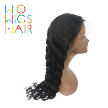 WoWigs Hair Full Lace Wigs Deep Wave Remy Hair Natural Color 100% Human Hair Free Shipping цена 2017