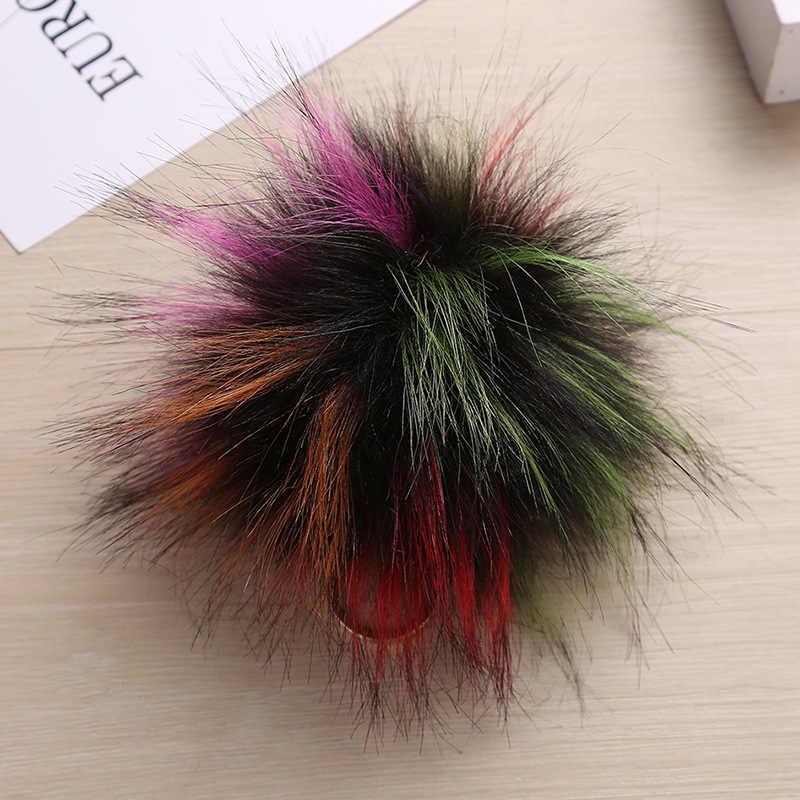Imitação de pele de cão guaxinim bola Pingentes Chaveiro Pompom Pele Linda Chave Do Carro Saco Titular Charme Acessórios Melhor Presente jóias K1635