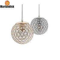 E27 Modernen Nizza Anhänger Lichter Gold/Silber Anhänger Licht, runde Ball Kristall D15CM Anhänger Lampen Für Wohnzimmer Bett Zimmer (DN-65)