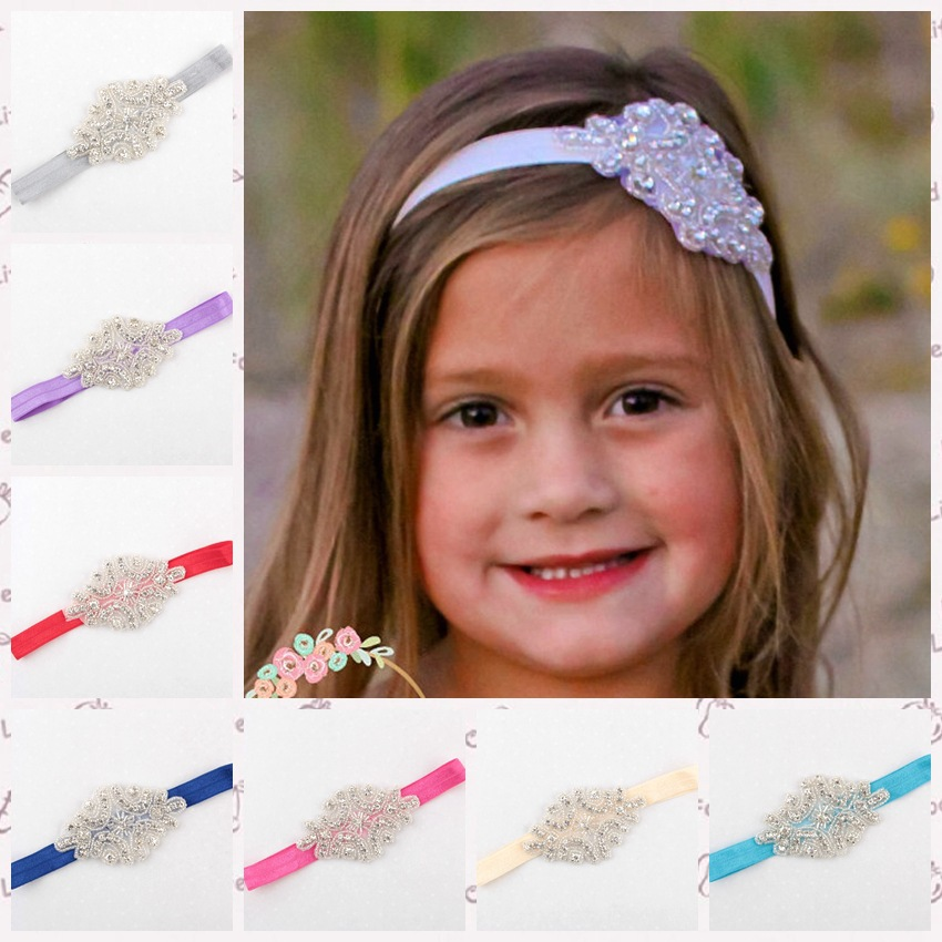 12pcs lot Luxury Shiny Girls Rhinestones Flowers Headbands Headwear Kids  boutique hair accessories Photo props TD26-in Hair Accessories from Mother    Kids ... bd14ff7233b8
