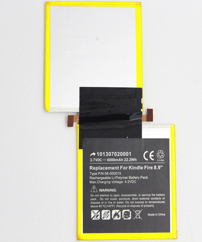 """5pcs/lot ISUNOO 6000mah Tablet Battery for Amazon Kindle Fire HD 8.9"""" 3HT7G S2012-002 S2012-002-D 58-000015 Internal Replacement"""
