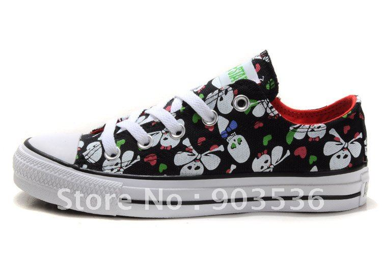 Cute skull and crossbones,womens canvas shoes,size:35-39