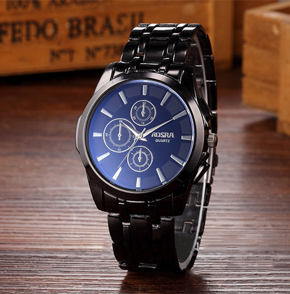 Men Quartz Full steel watch hot sale Luxury business wristwatch good quality stainless steel fashion round dial reloje drop ship multifunction sub dial orkina men vogue luxury quartz watch golden mesh metallic strap blue round dial hot sale classic gift