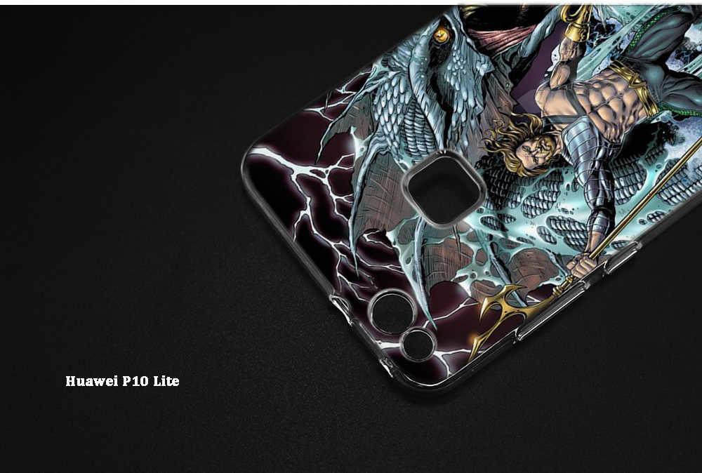 アクアマンジェイソン Momoa プリントケース huawei 社メイト 20 P20 名誉 9 10 8X 8C ノヴァ 3i 4 Lite プロ 1080p スマート Y6 Y9 プライム 2018 バックシェル