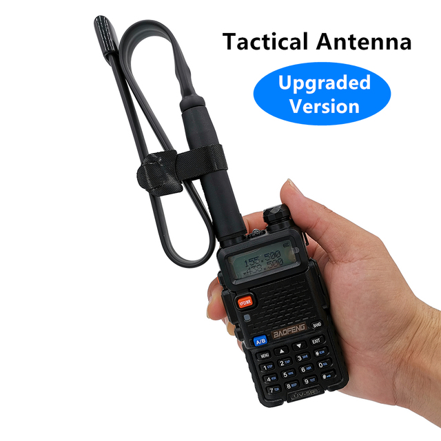 CS Tático Walkie Talkie Antena para Baofeng UV-5R UV-82 UV-XR UV-9R KSUN RETEVIS Rádio Antena SMA Feminino Dual Band VHF UHF