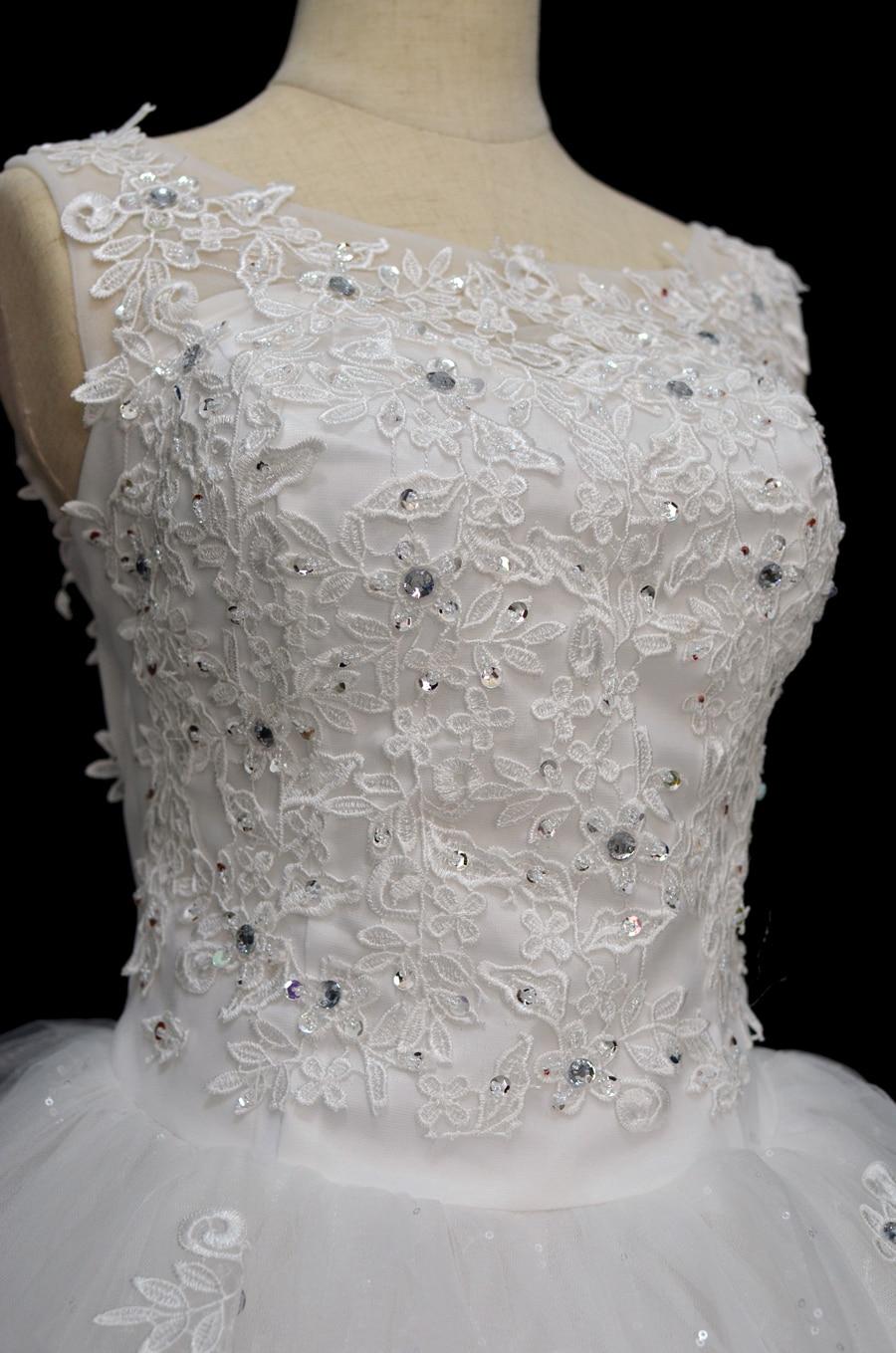 Coreeană Lace Up Ball rochie de calitate rochii de mireasa 2018 - Rochii de mireasa - Fotografie 3