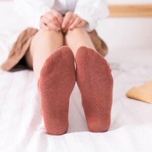 Image 4 - VERIDICAL kobieta skarpetki bawełniane krótkie dobrej jakości biznes Harajuku cukrzycowe puszyste skarpetki Meia skarpetki termiczne mody 5 par/partia