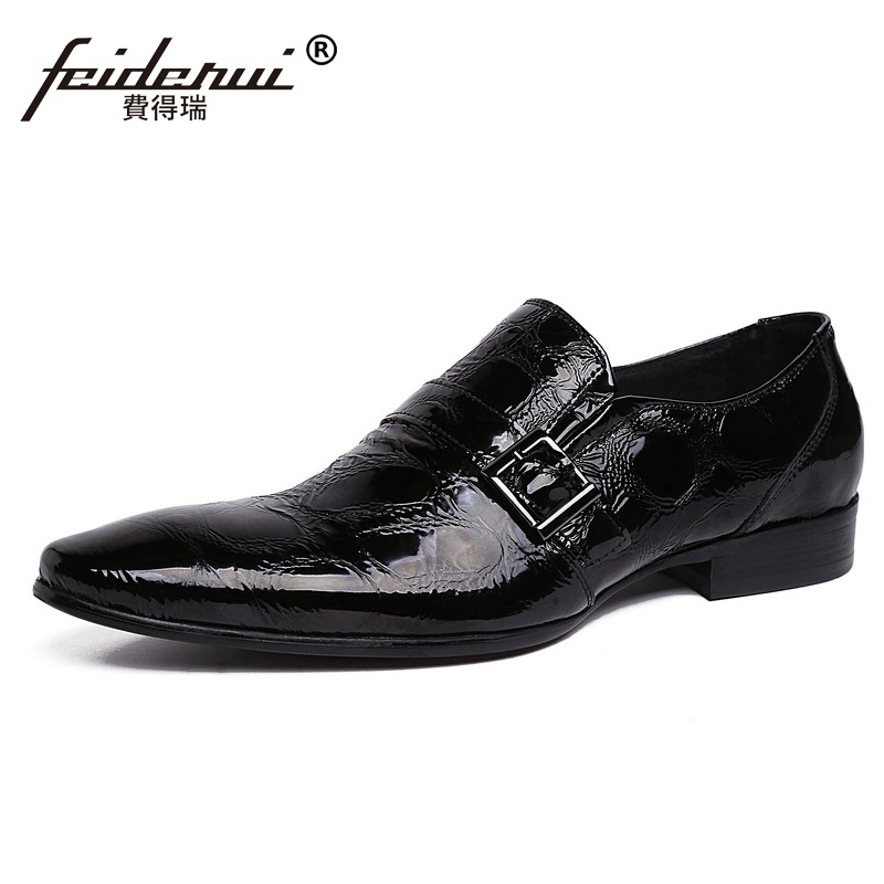 High Quality Man Dress Wedding Shoes Patent Leather Cow Loafers Italian Designer Brand Pointed Tor Men's Handmade Flats AS69 fashion top brand italian designer mens wedding shoes men polish patent leather luxury dress shoes man flats for business 2016
