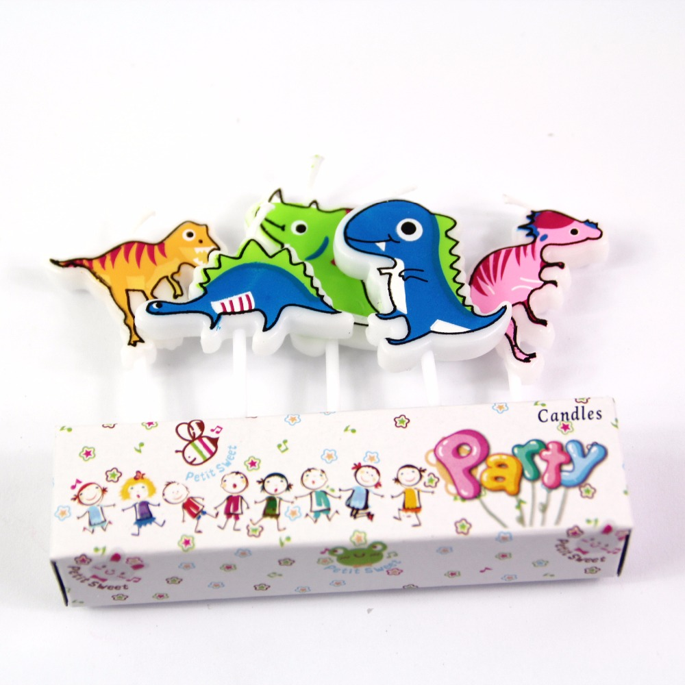 Cartoon Dinosaur 5pcs Set Cake Cupcake Candles Party Candles Kids Birthday Party Decoration Cake Topper Party Supplies Cake Decorating Supplies Aliexpress