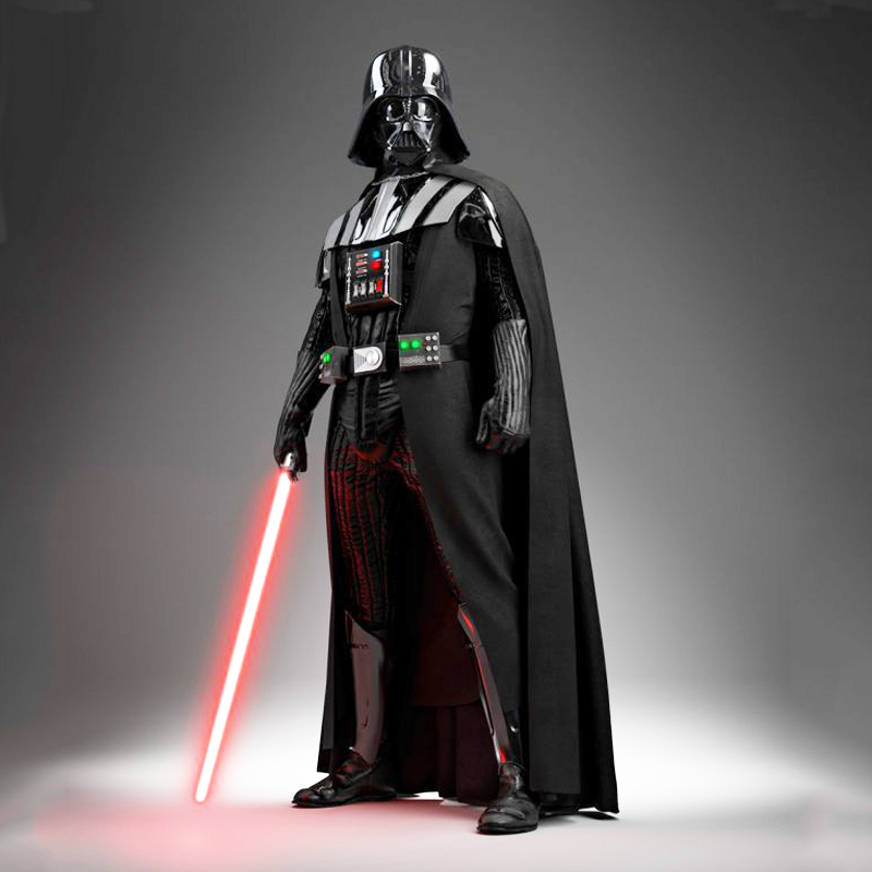 Darth Vader (Anakin Skywalker) Darth Vader Kostuumpak Kinderen Movie Costume For Halloween Party Cosplay Kostuum met Aurora Sword