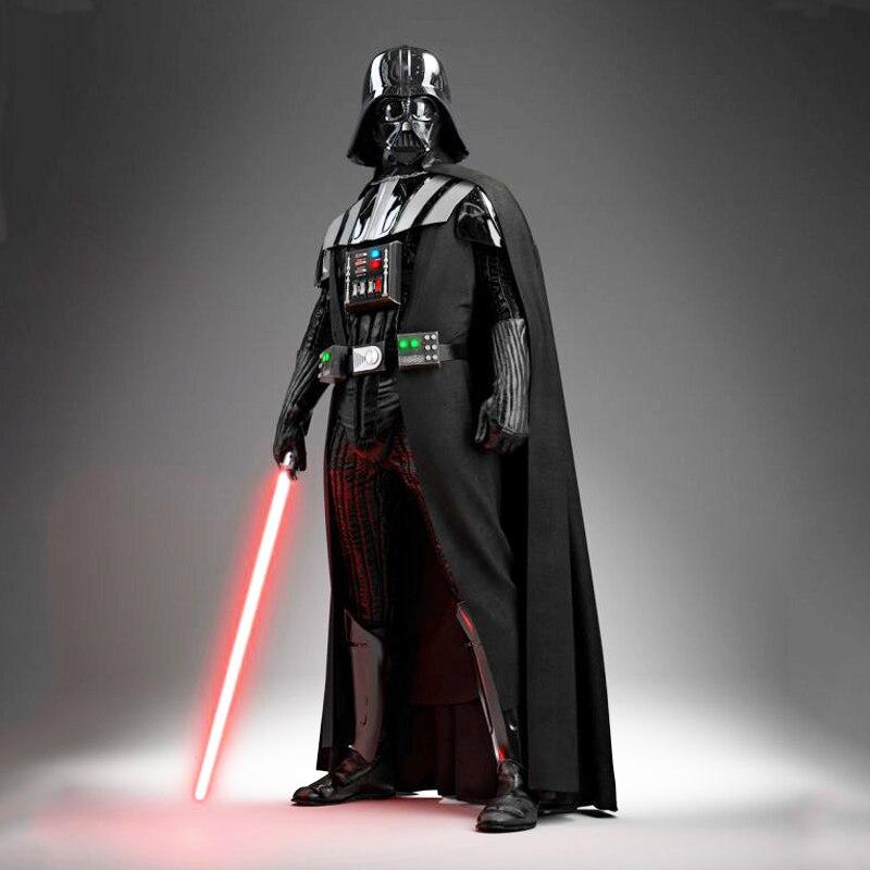 Darth Vader (Anakin Skywalker) traje de Darth Vader traje niños película traje para la fiesta de Halloween del traje de Cosplay con Aurora espada