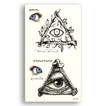 2pcs Blue Eyes Water Transfer Fake Tattoos Eye Totem Waterproof Temporary Tattoo Sticker Male Female Cool Beauty Sexy Body Art