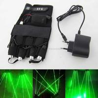 Professional Green Laser Gloves 4 Pcs 532nm Lasers For Stage Disco Party Club Laser Show Rechargeable