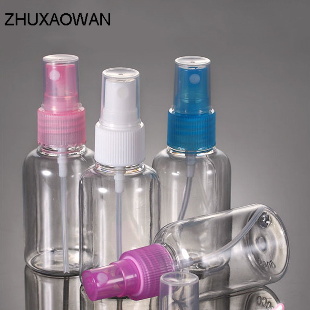 30/50/100 ml Small Mini Empty Spray Refillable Bottle Random Color Travel Transparent Plastic Perfume Atomizer Spray Bottle парфюмерные наборы trussardi туалетная вода my scent edt 50 ml natural spray blue land vial 1 5 ml