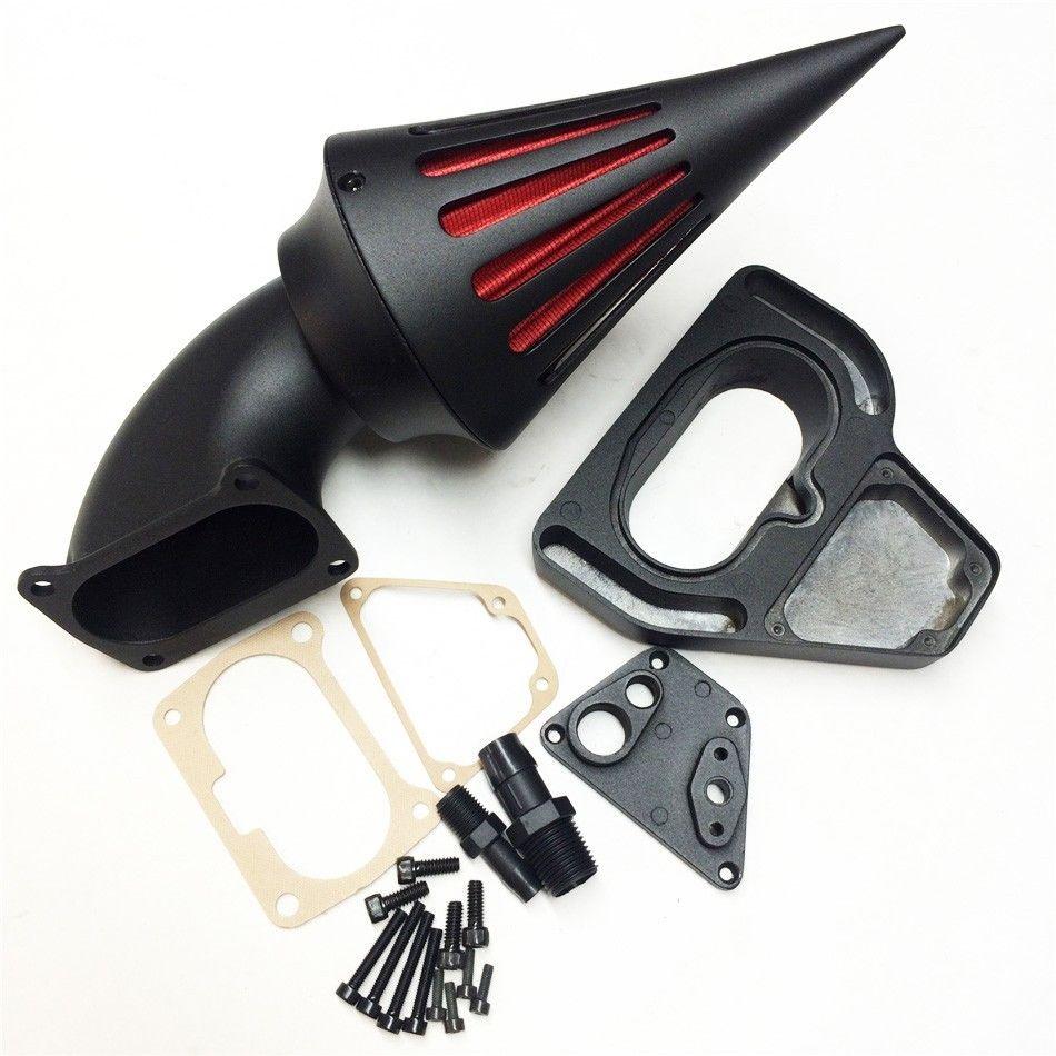 For 2002-2009 Honda VTX 1800 R S C N F VTX1800 BLACK Motorcycle Spike Air Cleaner filter 2003 2004 2005 2006 2007 2008 high quality chrome billet aluminum spike air cleaner kit intake filter for 2002 2009 honda vtx 1800 r s c n f