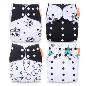 Image 3 - Happyflute cena hurtowa za 4 sztuk/zestaw zmywalna tkanina majtki na pieluchę regulowane pieluchy materiałowe wielokrotnego użytku