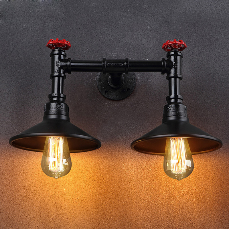 American retro vintage wall lamp industrial loft bedside warehouse lamps wall sconce lights lamparas de pared for cafe club bar high quality modern wall lamp vintage creative industrial loft retro wall sconce light living room bedroom warehouse stair lamps