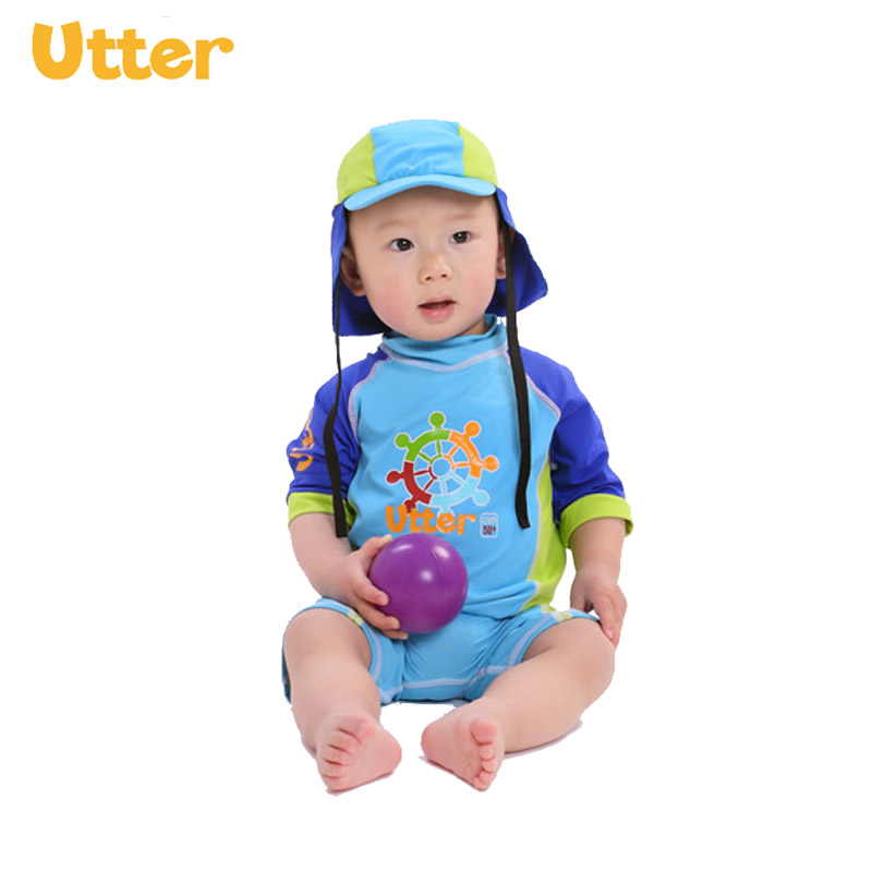 1b24b4e56ef UTTER Baby Kids Clothing Shorty Sleeve T-shirt Swimwear Sun Protection Rash  Guard for Boy Swimsuit Swimming Clothes